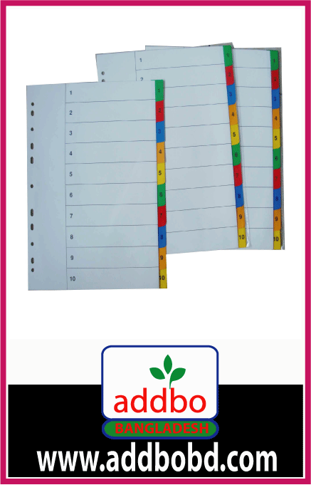 File divider 1 to 10